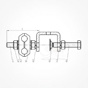 Grapa-Exterior-Torre-Silexst-SLX-3-8 RG214 RG213 RG8