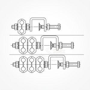 Grapa-Exterior-Torre-Silexst-SLX-3-8 RG214 RG213 RG8 Grupo