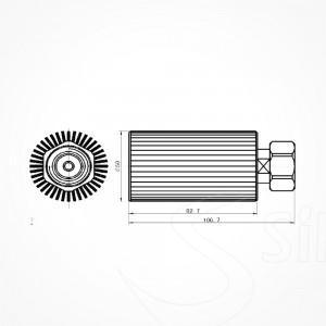 Terminación-716(m)-3GHz-50W-Draw-Silex